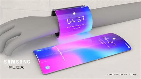 samsung galaxy flex 2020 future smartphone concept with display