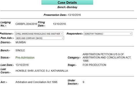 section 9 of arbitration act cyril amarchand files for interim injunction against