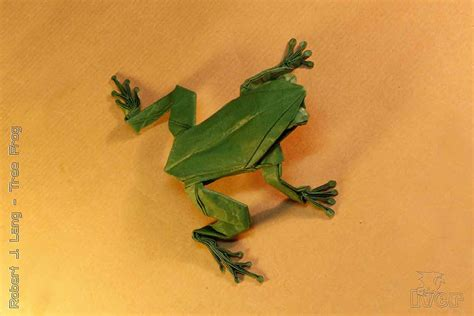 Origami Tree Frog - toadly awesome un frog gettable and quite ribbitting