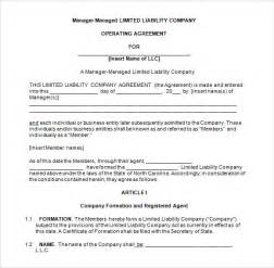 Member Managed Llc Operating Agreement Template Llc Operating Agreement 8 Download Free Documents In