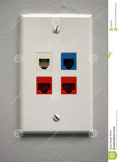 telephone outlet stock image image  connector phone