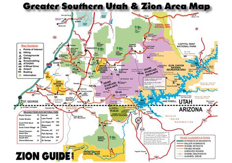 southern map southern utah zion area map utah state national