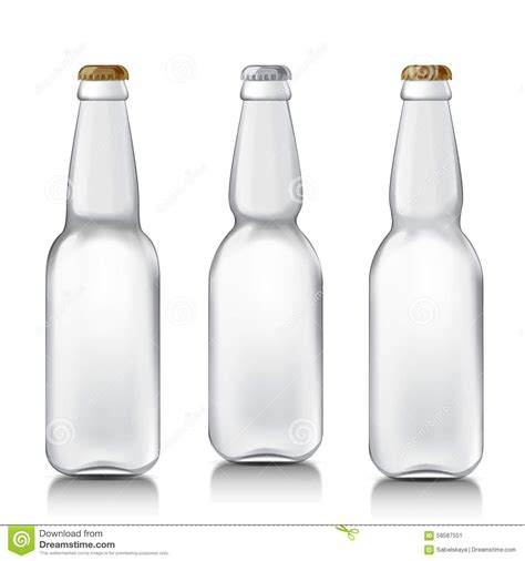 bottle design template set realistic glass bottles stock vector image 58587551