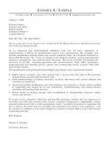 Information Systems Cover Letter by Cover Letter Human Resources Cover Letter Templates