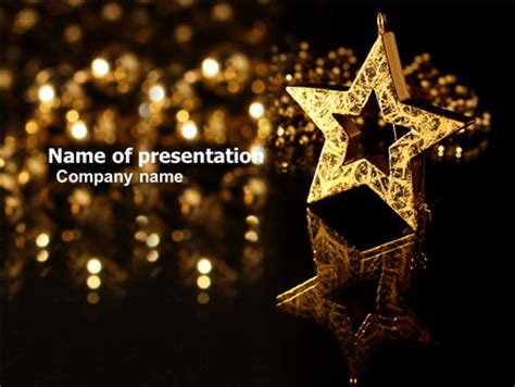 powerpoint templates free stars gold star powerpoint template backgrounds 03748