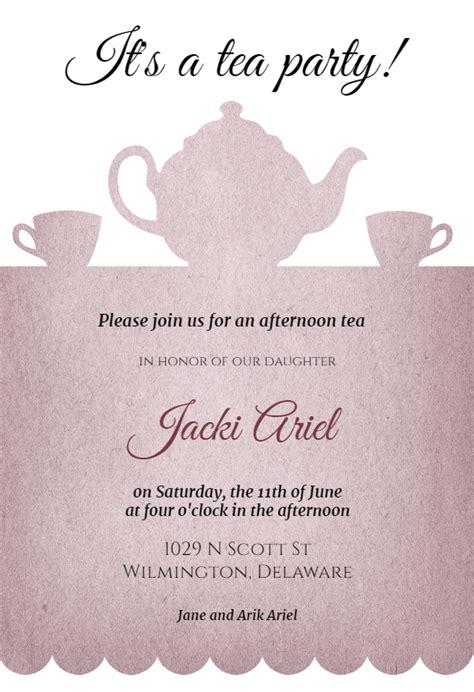 Tea Party Free Bridal Shower Invitation Template Greetings Island Bridal Tea Invitation Template