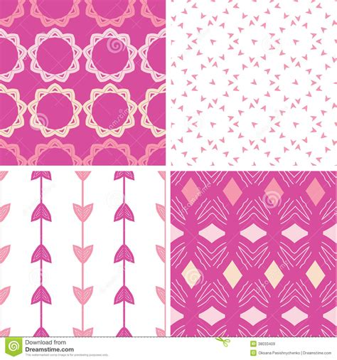 pattern color scheme set of four abstract seamless patterns cartoon vector
