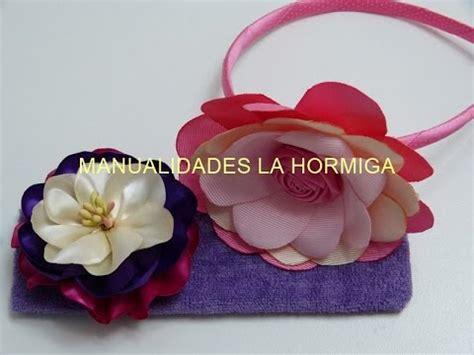 como hacer flores en cinta o liston goshii youtube como hacer flores de cinta o liston para tiaras tutorial