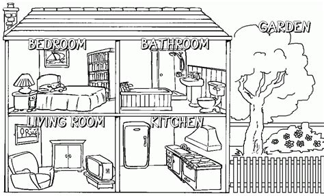 coloring pages my house my english blog rooms and parts of a home