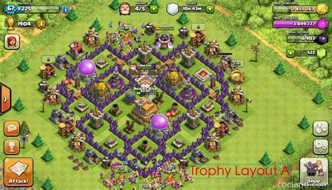 th7 village layout the mantis best base layout for town hall 7 clash of clans
