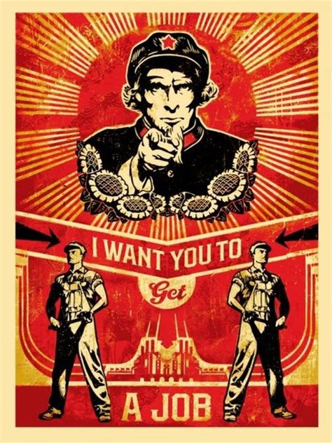 autobiography chinese meaning get a job original art by shepard fairey picassomio