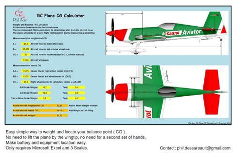 rc gas boat cg phil aero aircraft cg calculator rccanada canada