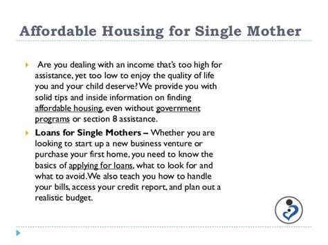 section 8 housing for single mothers grants for single mothers