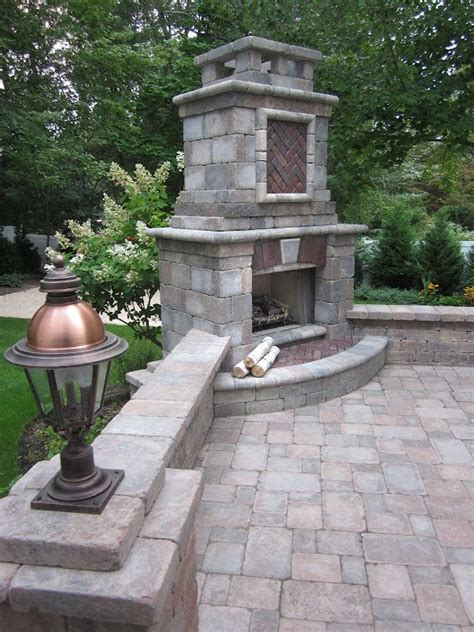 Unilock Fireplace by 17 Best Images About Unilock On