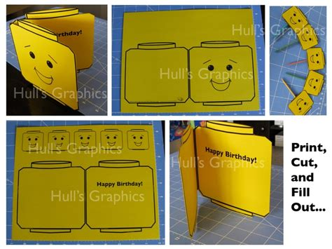 printable lego card 6 best images of printable lego happy birthday card free