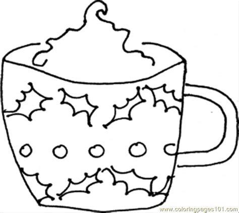 hot chocolate mug coloring page www imgkid com the