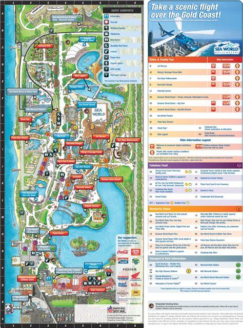 australia sea map gold coast sea world park map