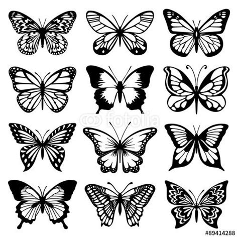 pattern tattoo vector vector butterfly vector set butterfly everything