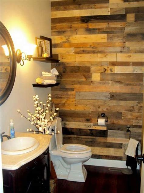 bathroom wood walls 27 beautiful diy bathroom pallet projects for a rustic