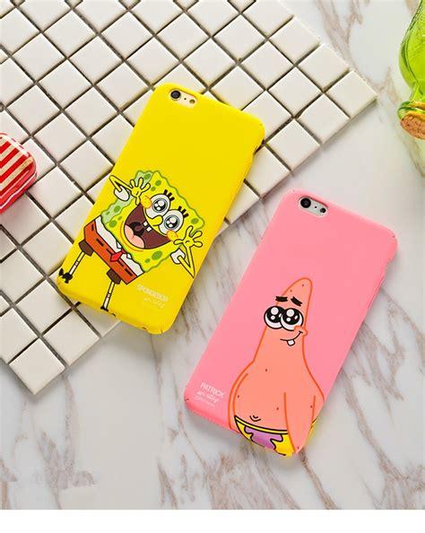 spongebob phone case spongebob iphone  case lovely cartoon spongebob patrick frosted pc phone