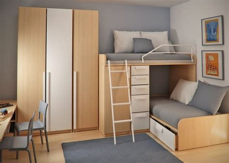small loft bedroom ideas double loft beds and workspace in teen small bedroom