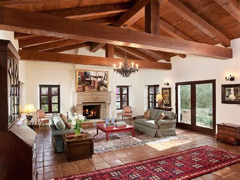 spanish homes interiors beautiful spanish hacienda in santa barbara huntto com