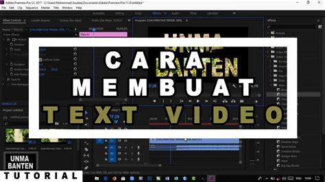 membuat watermark di adobe premiere cara membuat video text di adobe premiere cc youtube