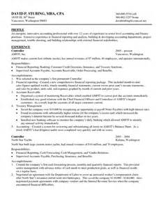 Sle Resume For Purchasing Manager by Cpa Resume Resume Cv Cover Letter