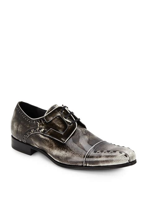 mezlan mens shoes lyst mezlan paolino leather derby shoes in black for