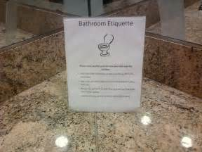 Bathroom Manners Office Workplace Bathroom Etiquette Signs Pictures To Pin On