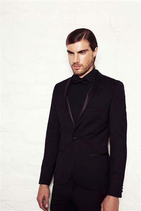 all black suit shirt and tie dress yy