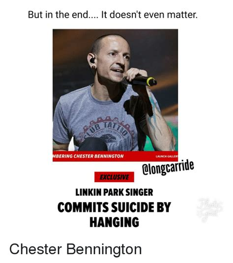 in the end it doesn t even matter but in the end it doesn t even matter bering chester