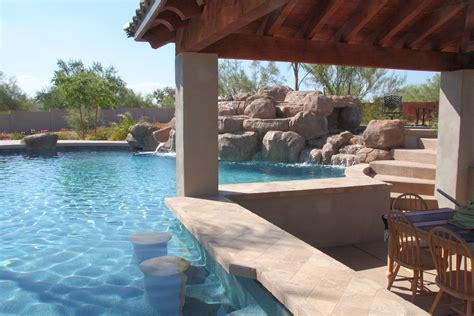 swim up bars in your own backyard phoenix landscaping