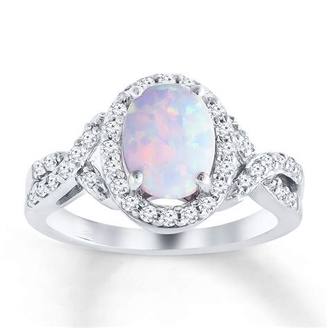 lab created opal ring lab created sapphires sterling