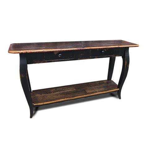 French Sofa Table W Barnwood Top Sofa Tables