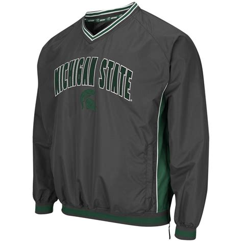 colosseum michigan state spartans charcoal fair catch