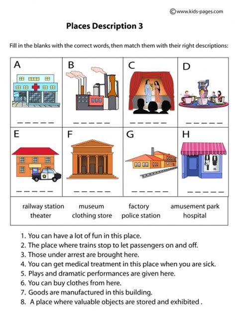 A Place Details Places Descriptions 3 Worksheet