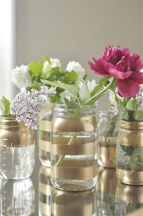 Vases Diy by Diy Gold Jar Flower Vases Your Homebased