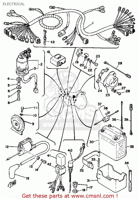 yamaha dt175 1979 usa electrical schematic partsfiche