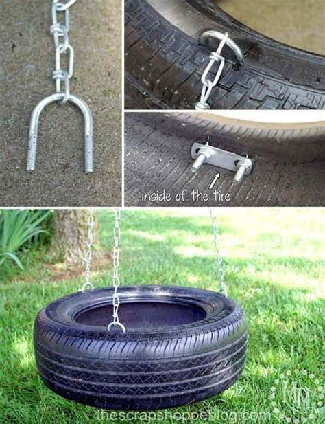 how to hang a tire swing from a tall tree 22 amazingly diy patio and garden swings decor advisor