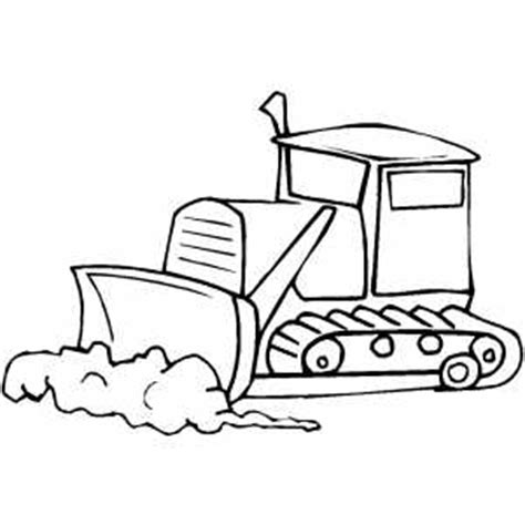 Bulldozer In Work Coloring Page Bulldozer Coloring Pages