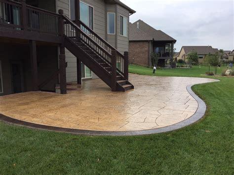backyard concrete patio images home design interior 2019