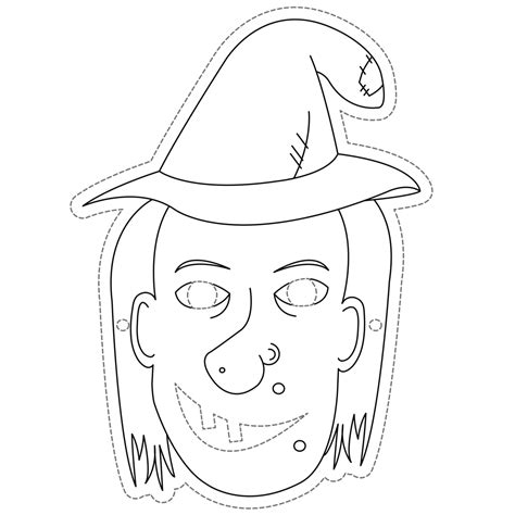 free printable witch mask template witch mask cleverpatch