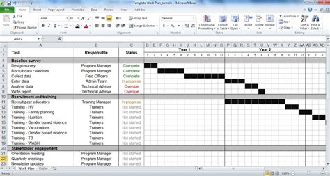 excel template project management project tracking template excel and project