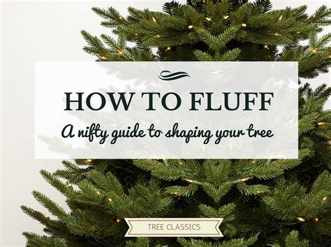 how to fluff your artificial christmas tree