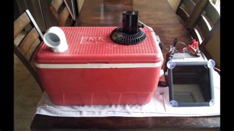 ice fan air conditioner redneck ice chest air conditioner youtube