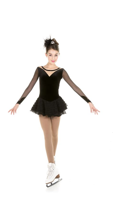 Dress Ballerina black swan ballet dress figure skating dresses