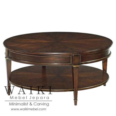 Meja Tamu Coffe Table Minimalis Modern Kayu Jati Belanda Blitar bunder coffee table meja tamu model bundar dengan harga