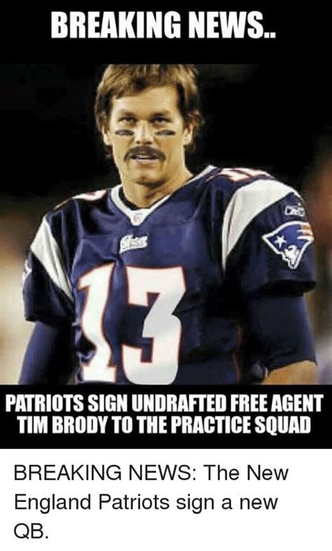 news sign up contacts the agency breaking news patriotssign undrafted free agent tim brody