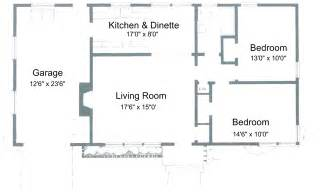 2 Bedroom House Plan Gallery For Gt Simple One Story 2 Bedroom House Plans